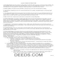 Juneau Borough Correction Deed Guide Page 1