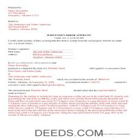 Ouachita County Completed Example of the Correction Deed Document Page 1