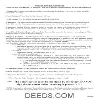 Alger County Discharge of Lien Guide Page 1