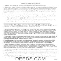 Cowlitz County Correction Deed Guide Page 1
