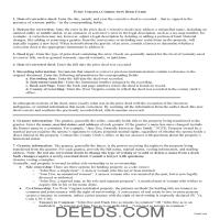 Pendleton County Correction Deed Guide Page 1
