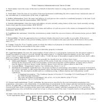 Lincoln County Memorandum of Trust Guide Page 1