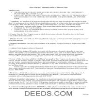 Pleasants County Transfer on Death Deed Guide Page 1
