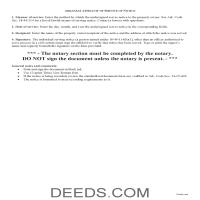 Lee County Affidavit of Service Guide Page 1