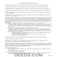 Lee County Waiver of Mechanic Lien Guide Page 1