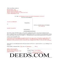 Jeff Davis County Completed Example of the Lis Pendens Document Page 1