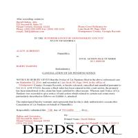 Jeff Davis County Completed Example of the Lis Pendens Discharge Document Page 1