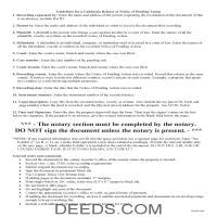 El Dorado County Release of Notice of Pending Action Guide Page 1
