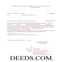 Lee County Completed Example of the Lis Pendens Release Document Page 1
