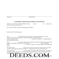 Jeff Davis County Easement Deed Form Page 1