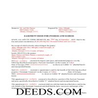 Jeff Davis County Completed Example of the Easement Deed Document Page