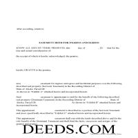 Aleutians West Borough Easement Deed Form Page 1