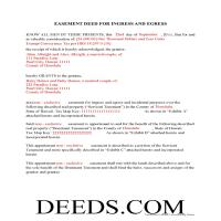 Hawaii County Completed Example of the Easement Deed Document Page 1
