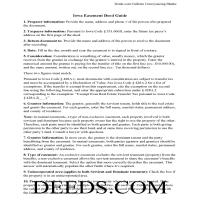 Calhoun County Easement Deed Guide Page 1