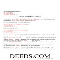 Carroll County Completed Example of the Easement Deed Document Page 1