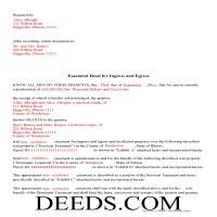 Cook County Completed Example of the Easement Deed Document Page 1