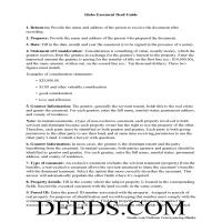 Franklin County Easement Deed Guide Page 1