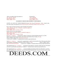 Blaine County Completed Example of the Easement Deed Document Page 1