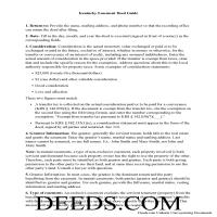 Lee County Easement Deed Guide Page 1