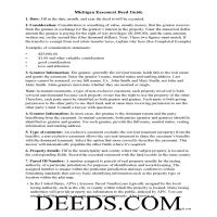 Hillsdale County Easement Deed Guide Page