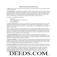 Pine County Easement Deed Guide Page