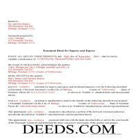 Daniels County Completed Example of the Easement Deed Page