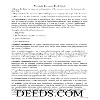 Grant County Easement Deed Guide Page