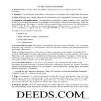 Elko County Easement Deed Guide Page