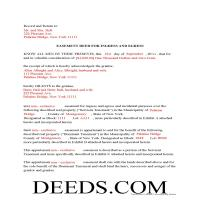 Chemung County Completed Example of the Easement Deed Page