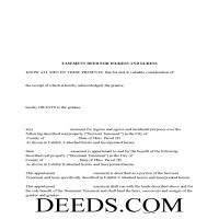 Noble County Easement Deed Form Page