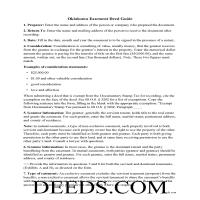 Sequoyah County Easement Deed Guide Page