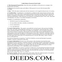 Corson County Easement Deed Guide Page