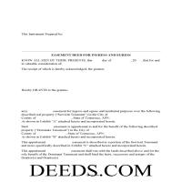 Union County Easement Deed Form Page