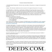 Union County Easement Deed Guide Page