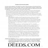 Washington County Guide to writing an Easement Description Page
