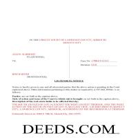 Dade County Completed Example of the Lis Pendens Document Page