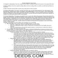 Tuolumne County Guidelines for Filling in the Deed of Trust Form Page 1