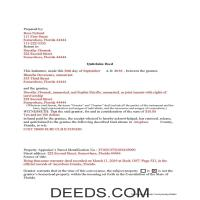 District Of Columbia County Completed Example of the Grant Deed Document Page 1