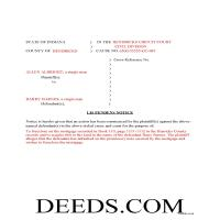 Daviess County Completed Example of the Lis Pendens Document Page 1