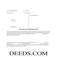 Carroll County Release of Lis Pendens Form Page 1