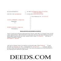 Madison County Completed Example of the Release of Lis Pendens document Page 1