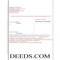 Whitman County Completed Example of the Release of Lis Pendens Document Page 1