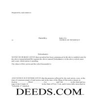 Greene County Notice of Pendency Form Page 1