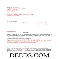 Greene County Completed Example of the Notice of Pendency Document Page 1