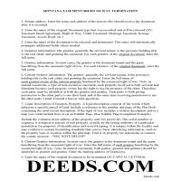 Daniels County Guidelines for Release of Easement Page 1