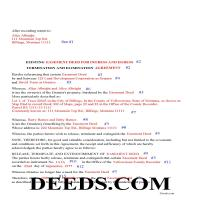 Daniels County Completed Example of the Release of Easement Page 1