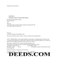 Lowndes County Release of Easement, Right of Way Form Page 1