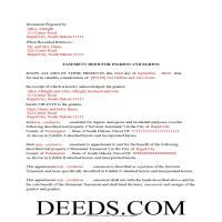 Clay County Completed Example of Easement Deed Page 1