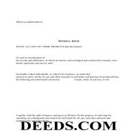 Graham County Mineral Deed with Quit Claim Page 1