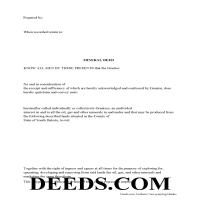 Miner County Mineral Deed with Quit Claim Page 1